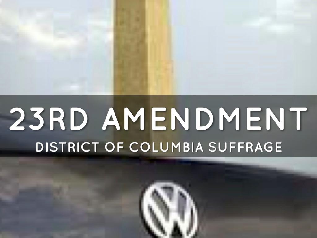 23rd Amendment Picture   www.imgkid.com - The Image Kid ...
