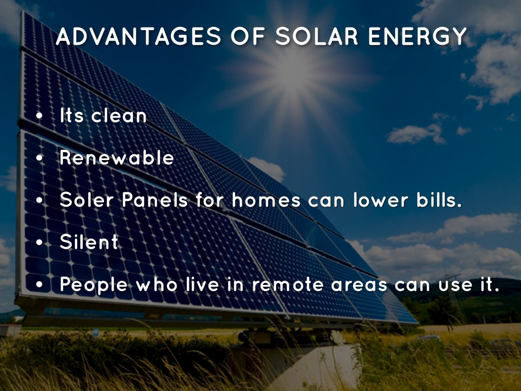 Energy sources by michael kunka Benefits of going solar