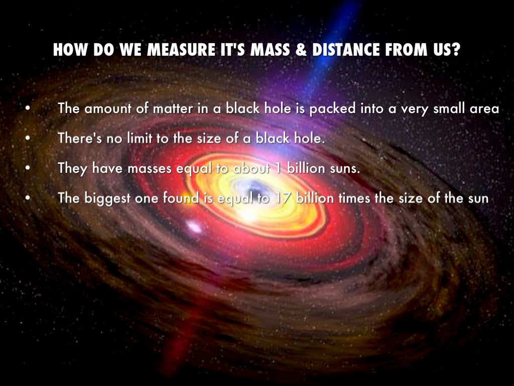 distance from earth black hole -#main