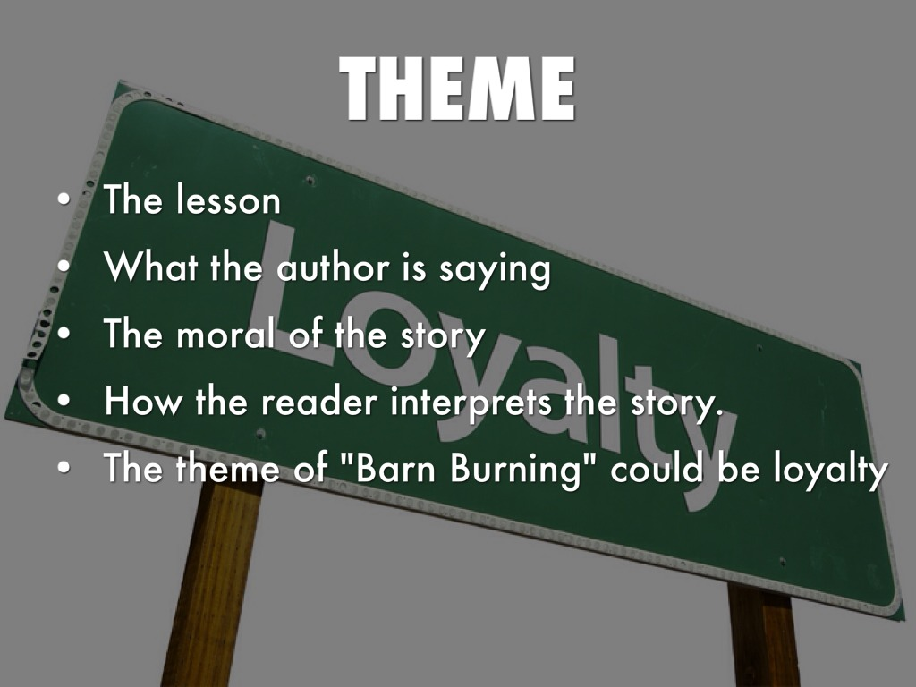 an analysis of barn burning a novel by william faulkner
