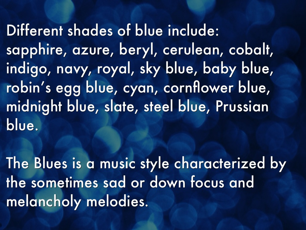 Color Meanings Blue Colours By 17franj Color Meaning