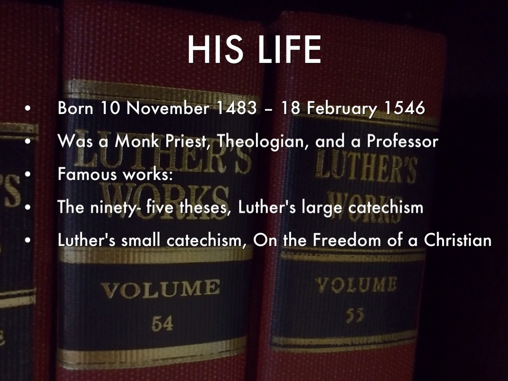 martin luther and the 99 thesis