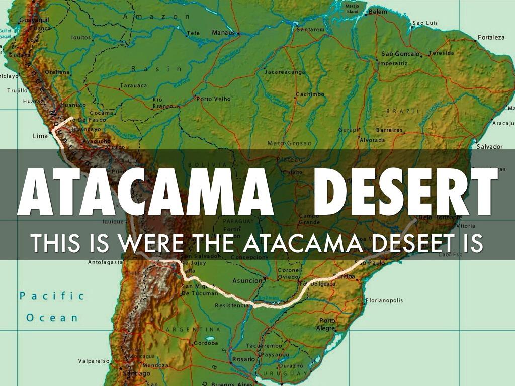 Atacama Desert Physical Map