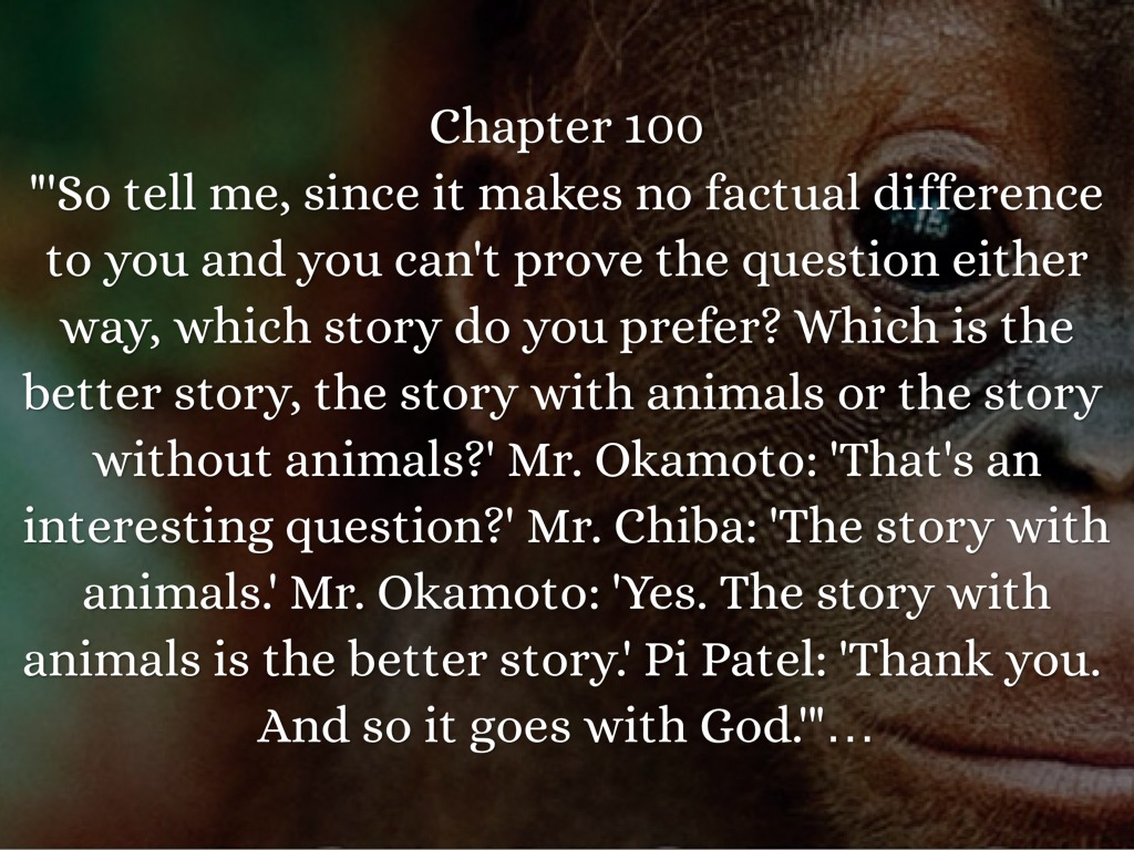 life of pi chapter questions The 10 questions from this quiz is taken from the part 1 of life of pi.