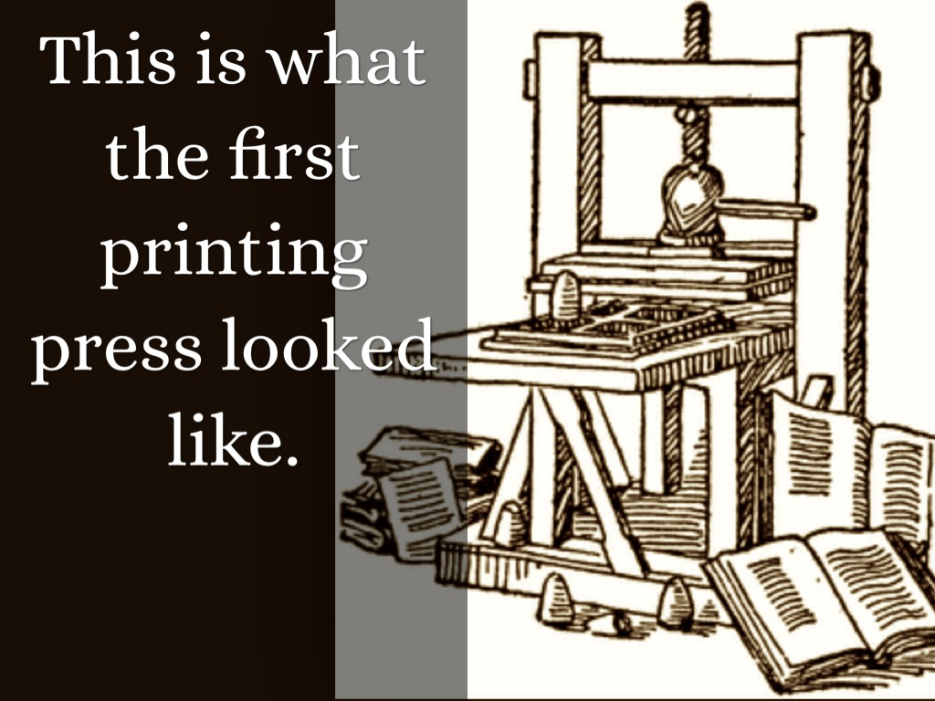 how to make a gutenberg printing press