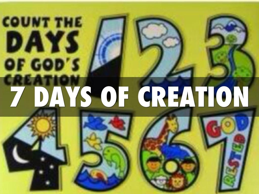 7 days of creation by geoffrey morris