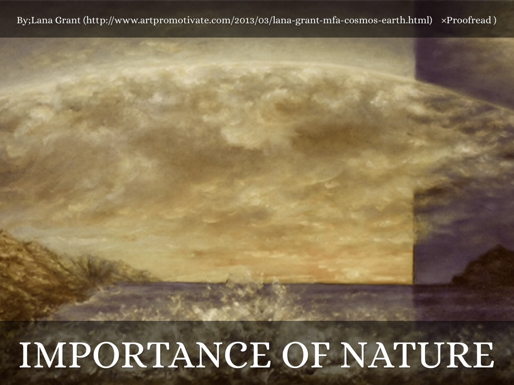 "importance of nature Michael jackson's song, ""earth song"" incorporates major tenets of transcendentalism the whole song is about the importance of nature."
