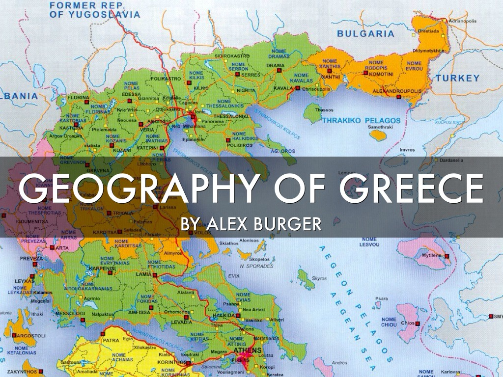 Geography of Greece by Alex Burger