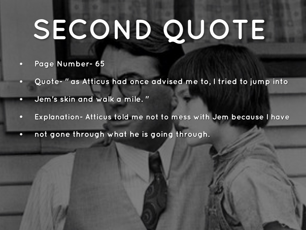 Atticus Finch Walk In Shoes Quote Page Number