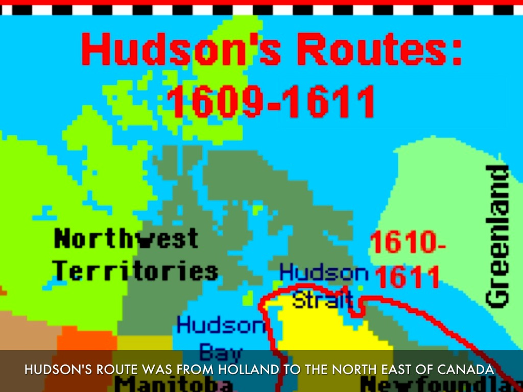 Hudson Bay Map and Map of Hudson Bay Depth Size History Information Page