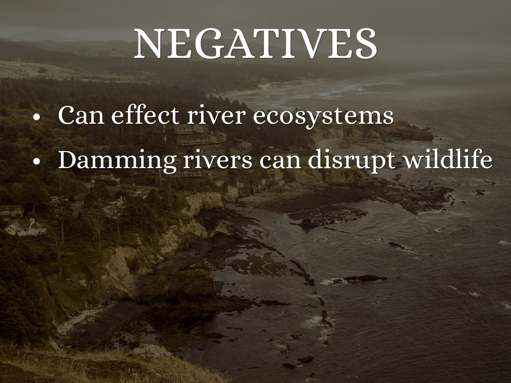 exploring the positive and negative effects of river damming Dams have a great deal of positive and negative effects on the environment be- (international river network, 2001 canadian dam associa-tion, 2001) 5.