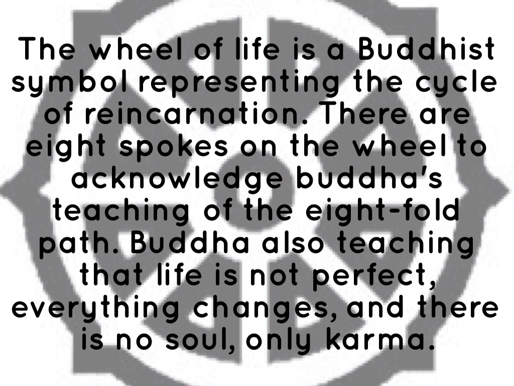 Haiku deck in action by taylor kowalski the wheel of life is a buddhist symbol representing the cycle of reincarnation there are eight spokes on the wheel to acknowledge buddhas teaching of the biocorpaavc Images