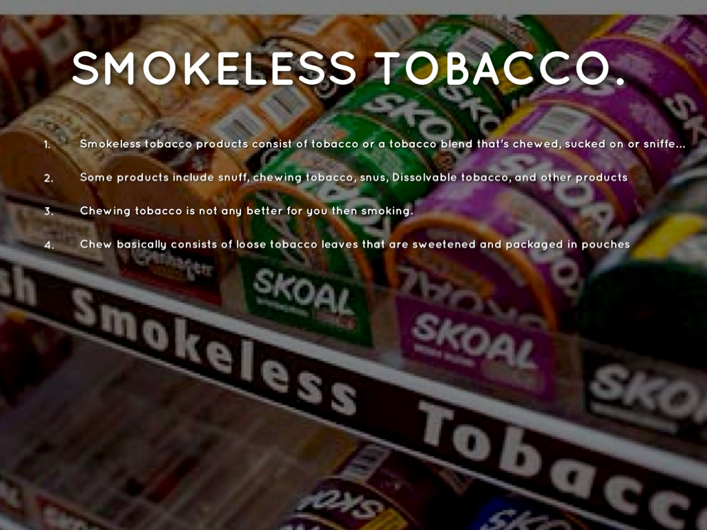 smokeless tobacco essay