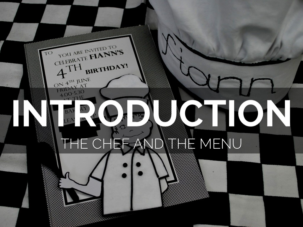 Introduction To The Kitchen