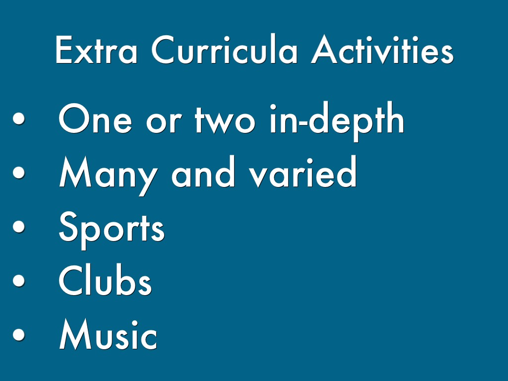 extra curricular activities and its effects 21 studies on the benefits of extra-curricular activities evaluation, than male athletes this study shows the importance and effect of one.