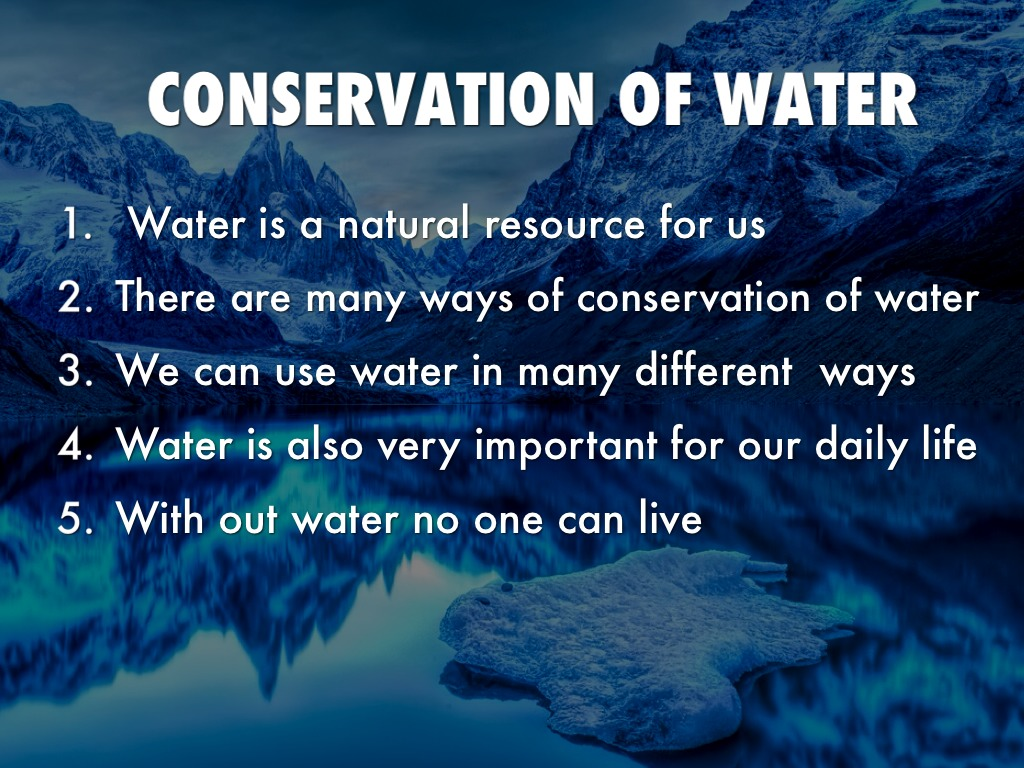 conservation of water It's important to save water at home not only for the environment, but also because it's good for you, too learn more about the water cycle, the importance of water.