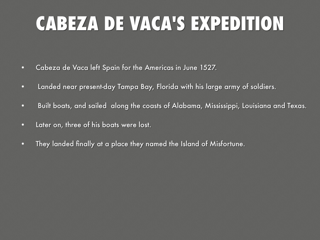 an analysis of the role of cabeza de vaca and three companions