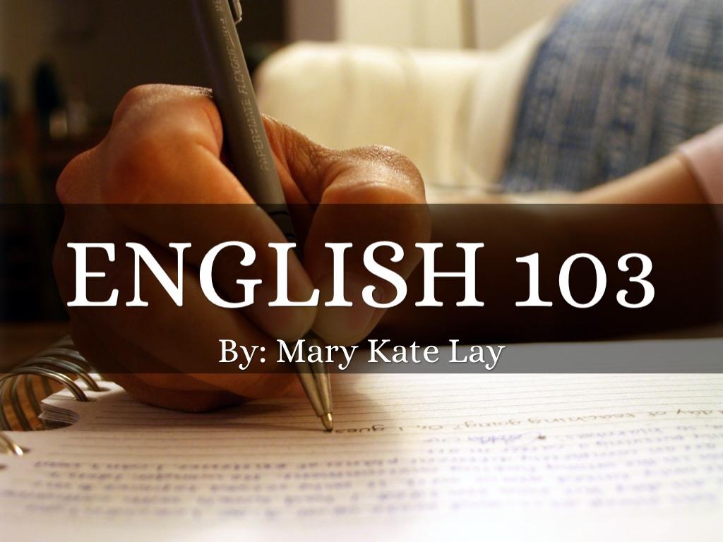 english 103 syllabus