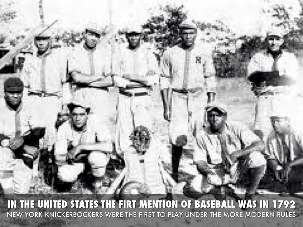 an introduction to the history of baseball in the united states This presentation acts as an introduction to the people, history, economy and culture of the united states of america i am not an american citizen myself but i have researched this piece in.