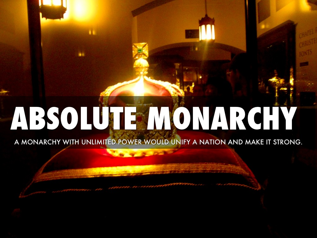 the rules of the absolute monarchy In politics, an absolute monarchy refers to a country whose ruler has supreme order without restrictions the royal palace of the sultan of oman oman is an absolute monarchy the term absolute monarchy refers to monarchies in which the ruler has total powers and supremacy above a country's people.