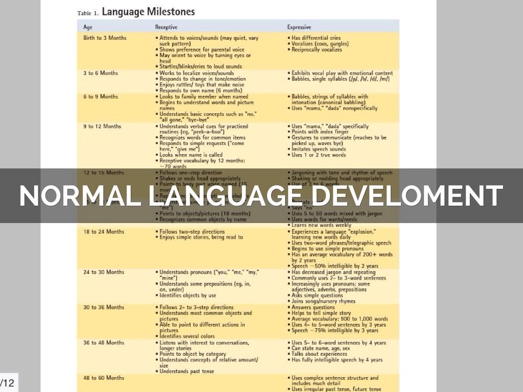 Speech & Language Development by Jonathan Strysko