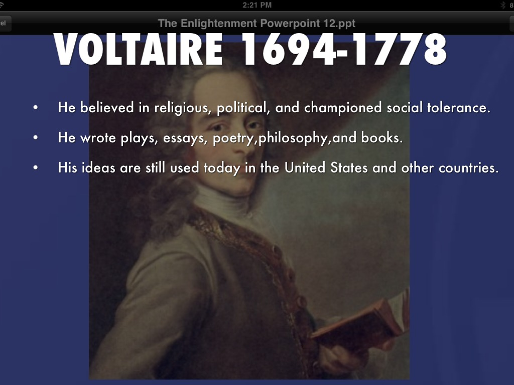 essays written by voltaire The voltaire is one of the most popular assignments among students' documents if you are stuck with writing or missing ideas, scroll down and find inspiration in.