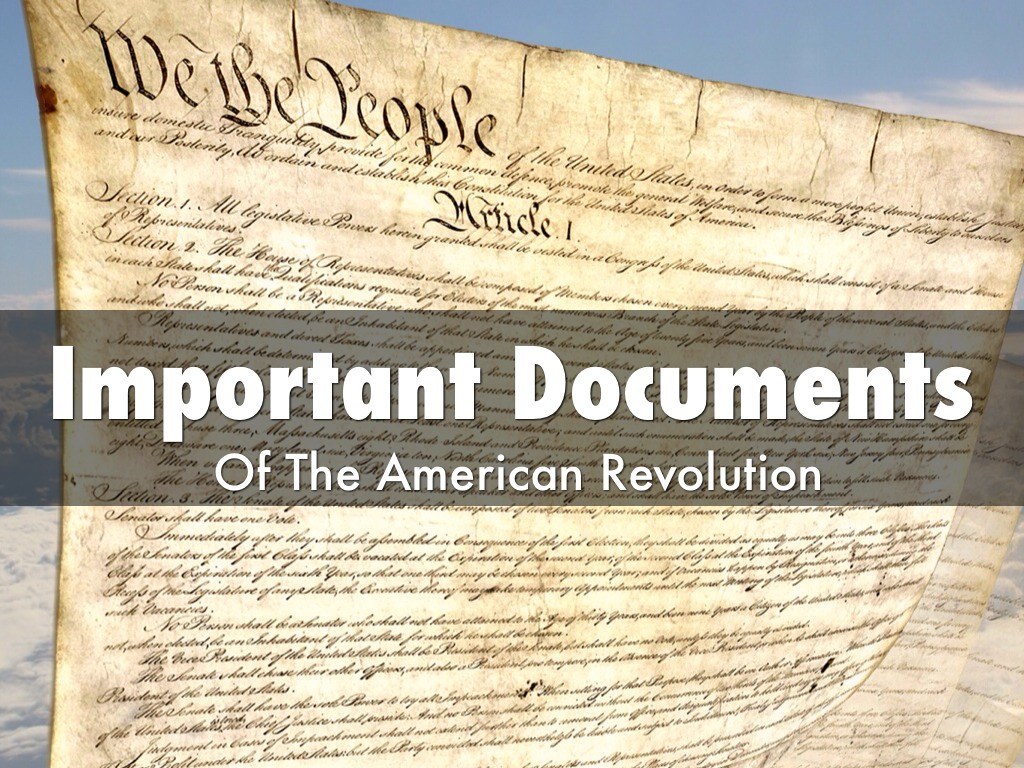 Important Documents of the A.R