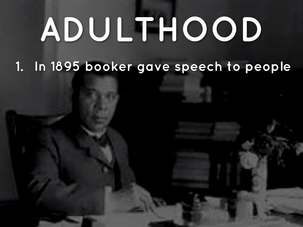 booker t washington adulthood