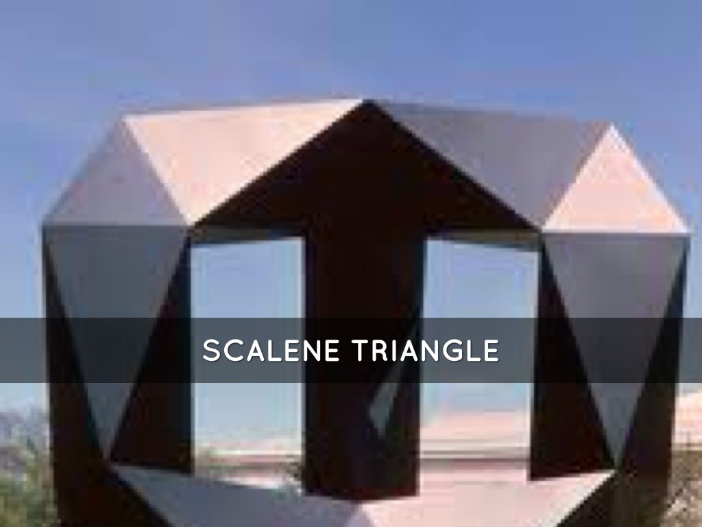 Scalene Triangle Outline Classifying Triangles