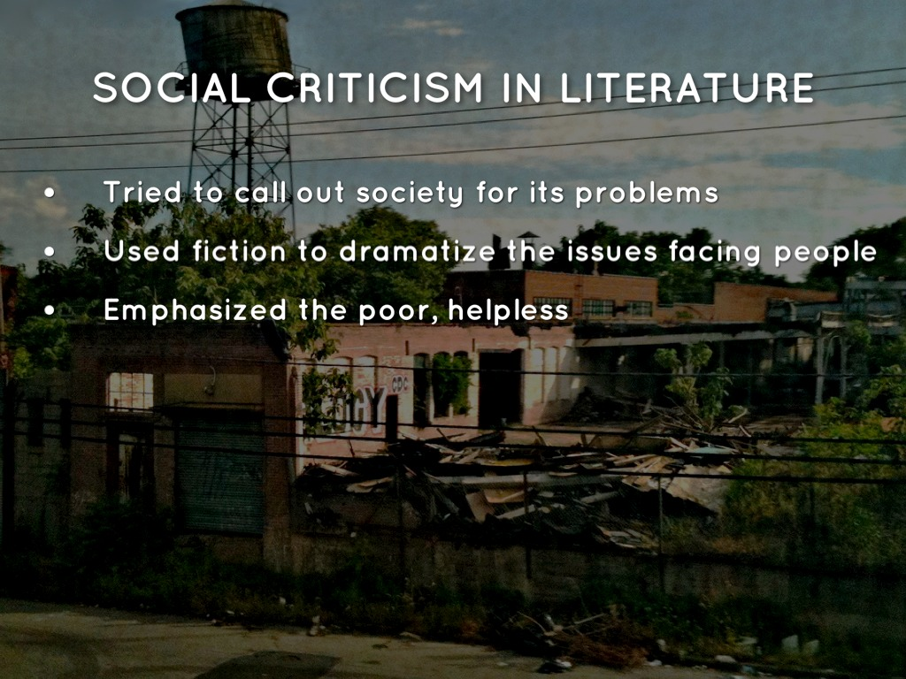 what is social criticism in literature