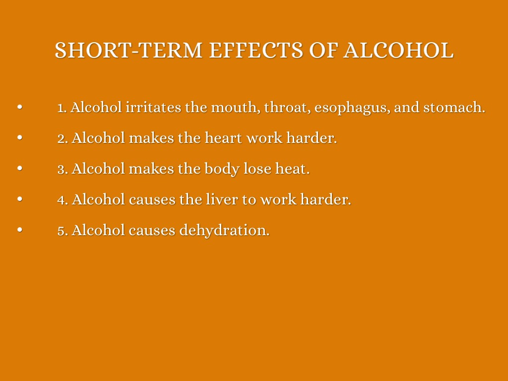 The Effects Of Alcoholism Outline