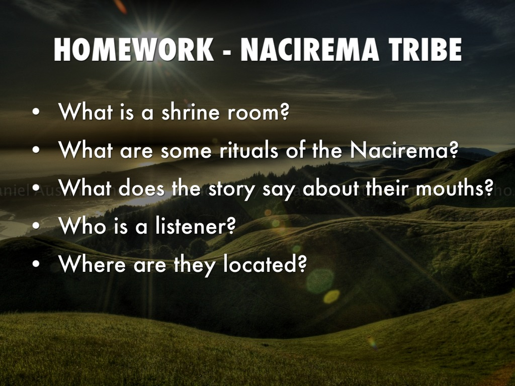 essay on the nacirema