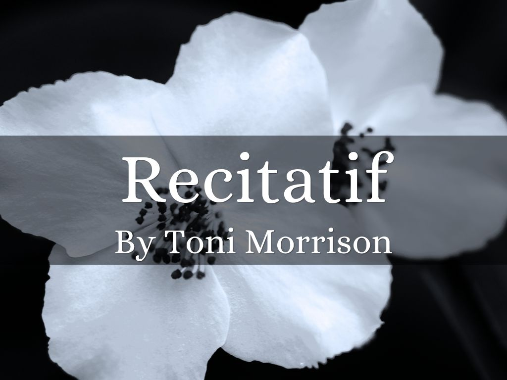 outline recitatif It's easy to test your understanding of toni morrison's ''recitatif'' by answering the questions included in our quiz/worksheet combo feel free to.