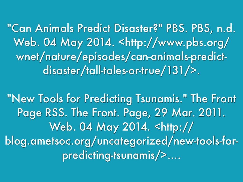 Can Animals Predict Natural Disasters Pbs - Images All