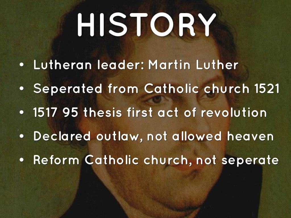the genesis of the conflicts between martin luther and the catholic church This movement was known as the protestant reformation and it was responsible for breaking down the power of the catholic church martin luther became a catholic.