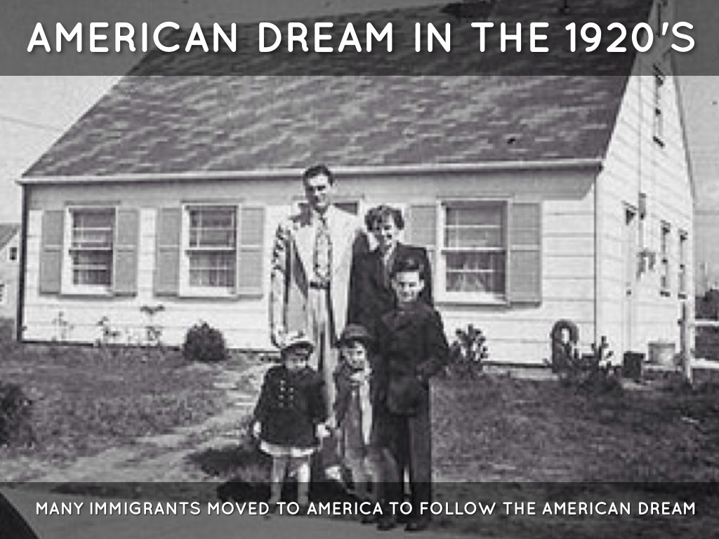american dream 1920s compared today