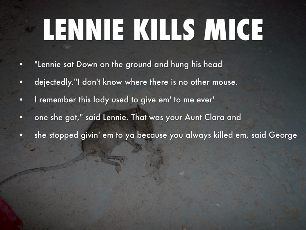 Foreshadowing lennies death of mice and men