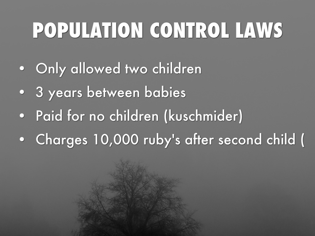 is population control necessary Is population control necessary some people will say that population control is a necessity in poorly developed countries like in africa or latin america, and strongly criticize the catholic church, for example, for insisting that artificial birth control is immoral.