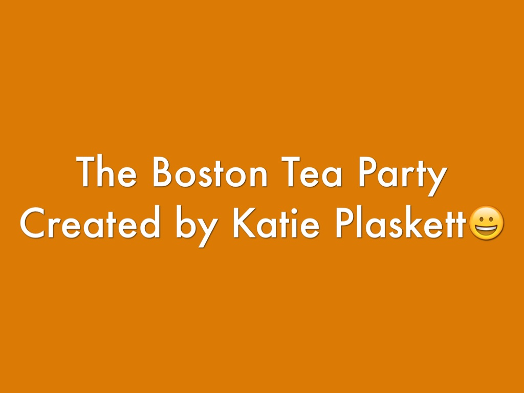 a study of the boston tea party