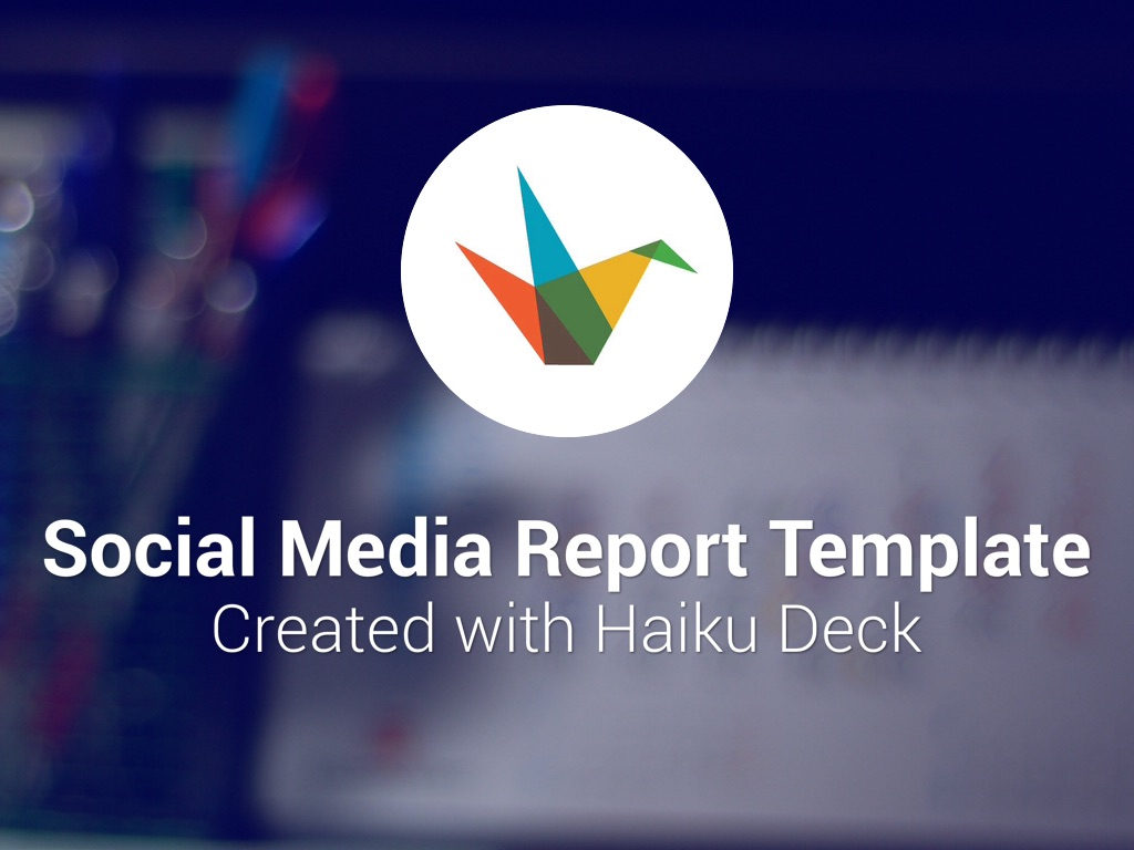 Social Media Report Template by Reusable Template