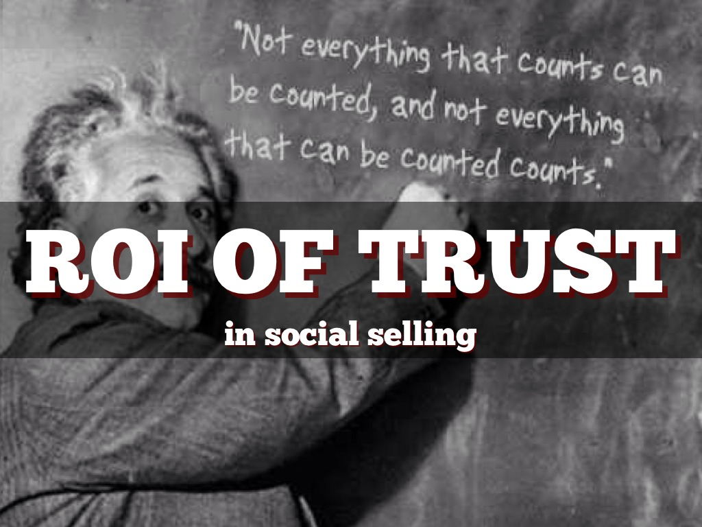The ROI of Trust in Selling