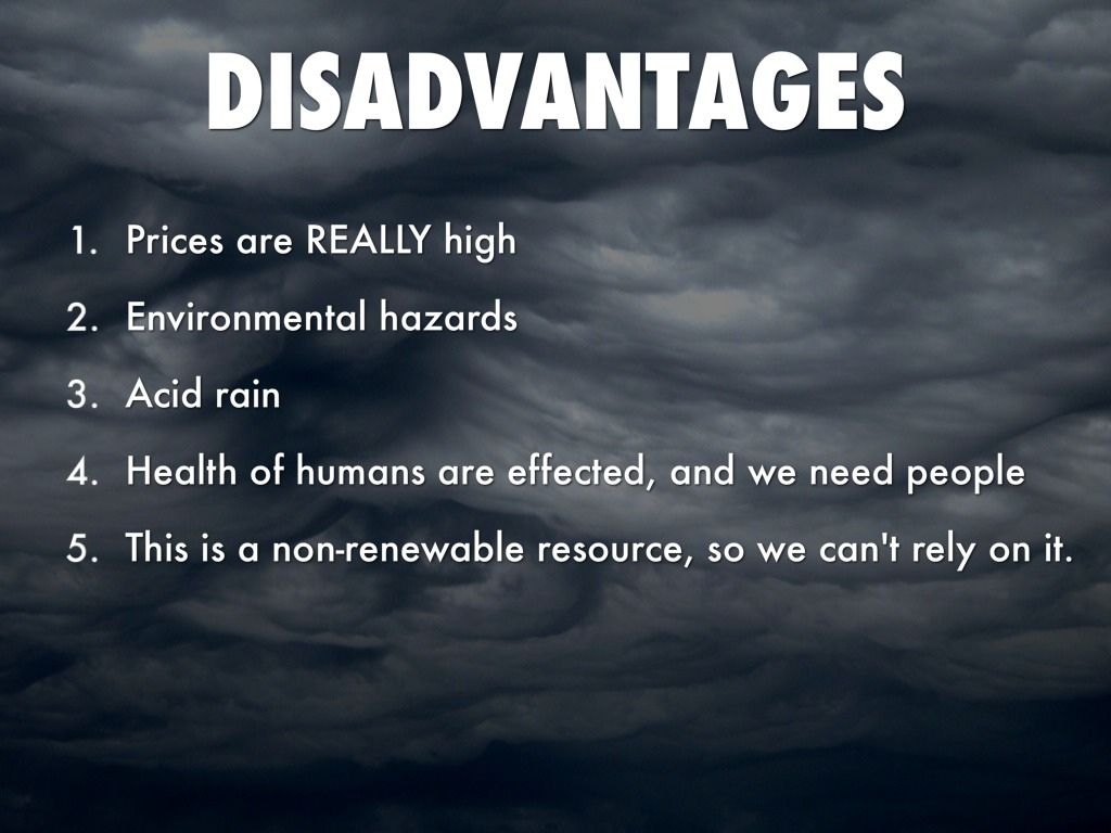 Fossil Fuel Disadvantages by Kase LeRow