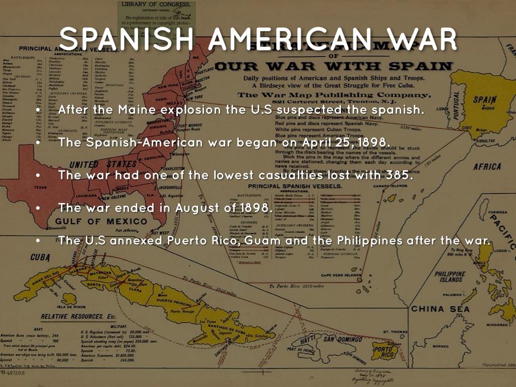 Spanish american war date in Perth