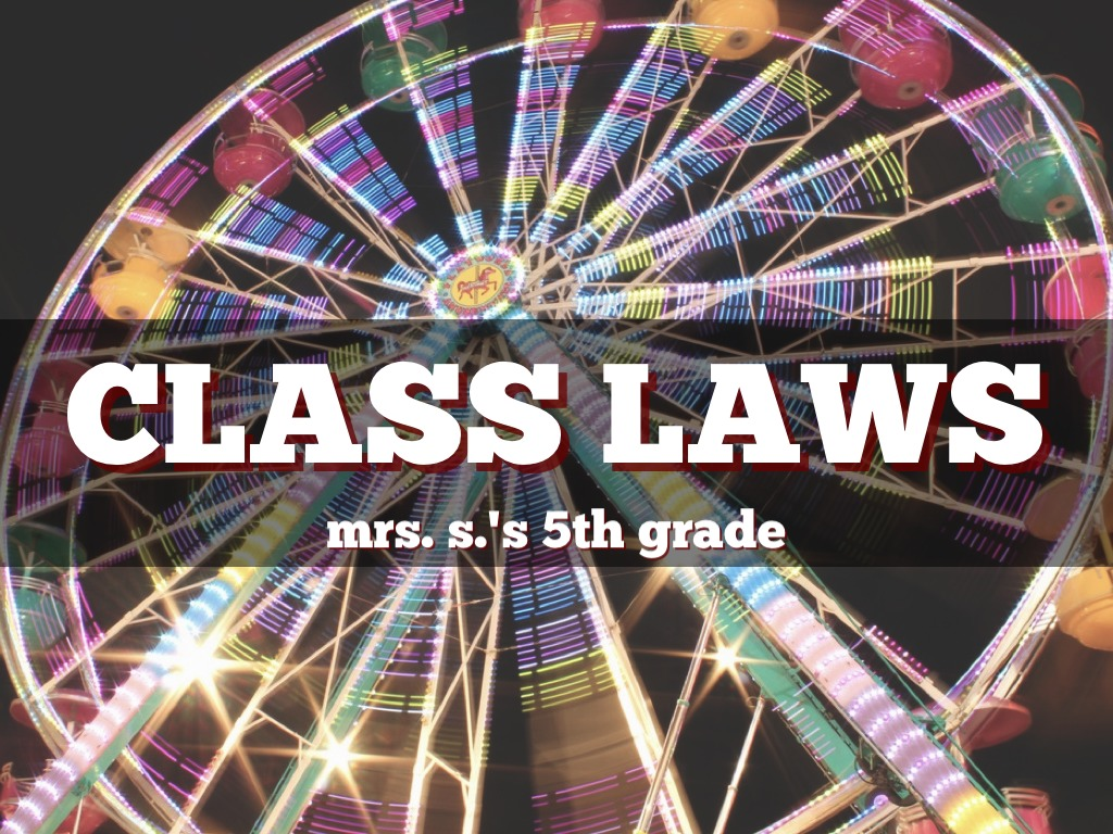 Class Laws