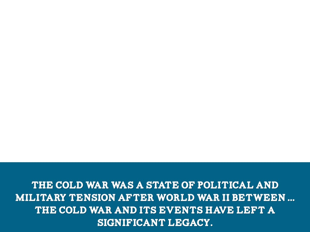 extent could cold war have been avoided Outside the united states and the soviet union, cold warriors fought their own battles in the shadows cast by their powerful allies their cold wars were similar to the principal super-power conflict in their ideological and geopolitical purposes, but different to the extent that they were influenced by histories that preceded the cold war and in some ways transcended it, and also different.