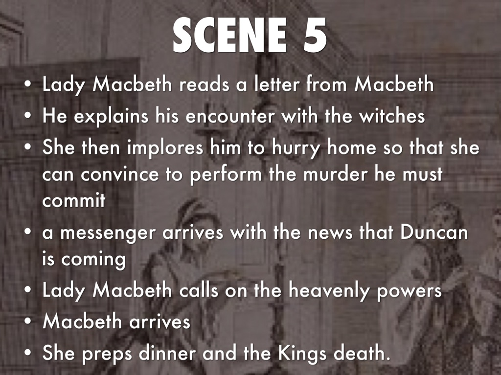essay on macbeth act 1 scene 5