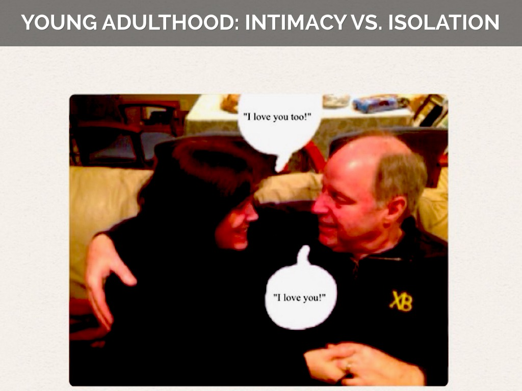 """intimacy vs isolation essays Types of essays  free sample essays   erickson stated that during the young adult years an individual is exposed to"""" intimacy versus isolation crises ."""
