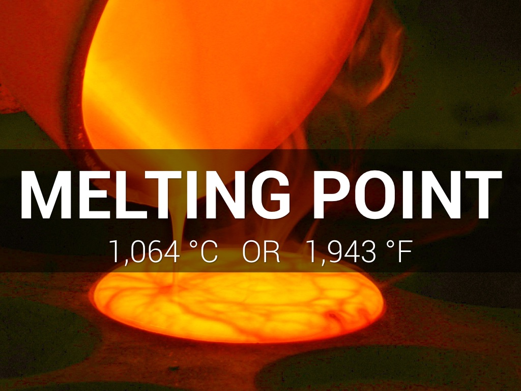 gold and high melting point