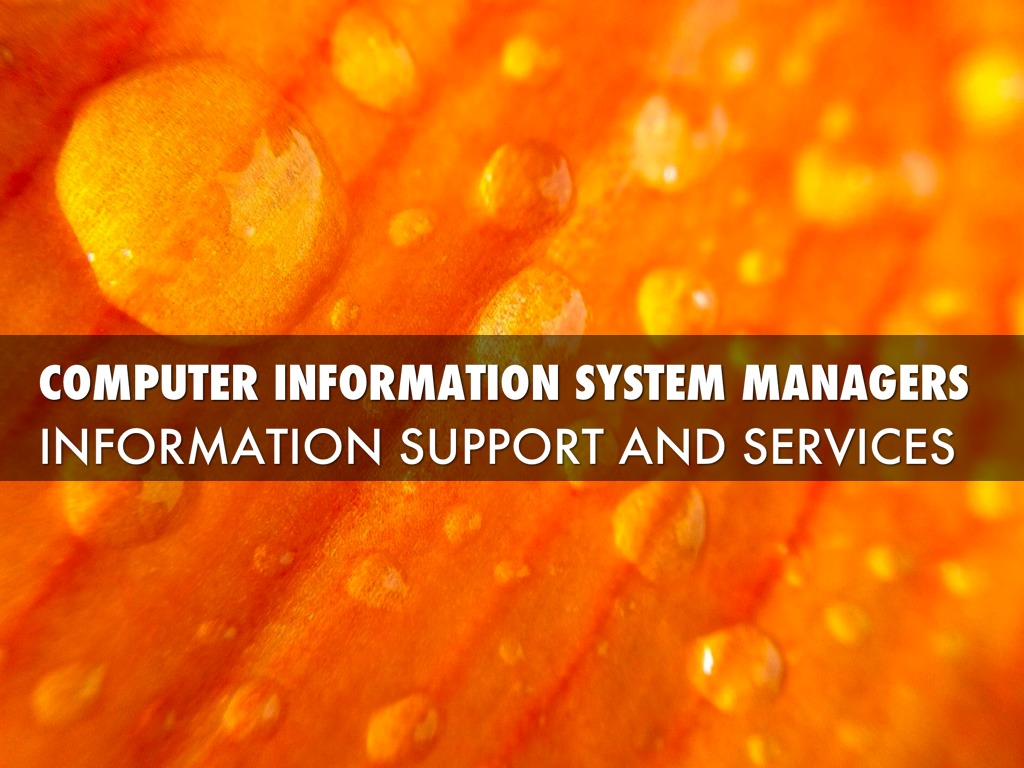 information system for managers Computer information systems: education and career information explore the career requirements for a computer information systems manager get the facts about the education requirements, key skills, career outlook and salary to determine if this is the right career for you.