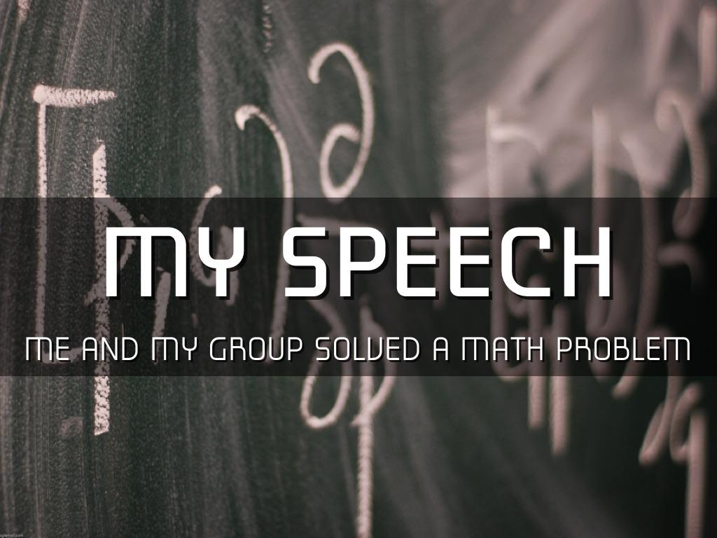 Math Speech